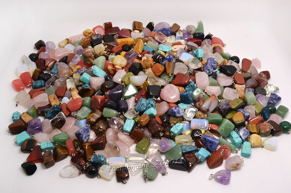 best selling Wholesale Lots Jewelry Natural gemstone Stone mixed Pendants Loose Beads Fit Bracelets and Necklace Charms DIY #B03