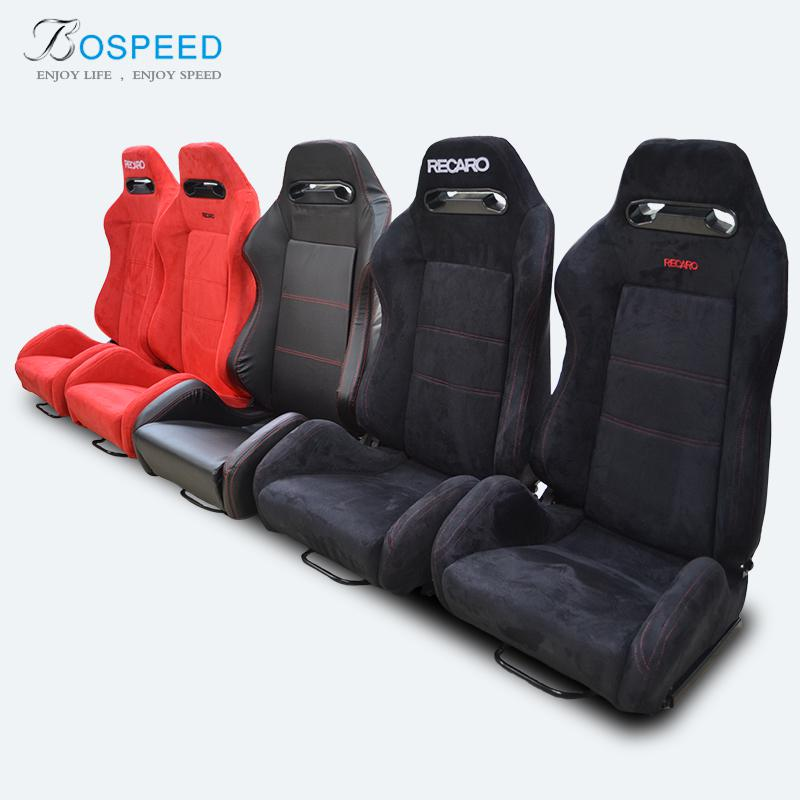 2018 Racing Seats Modification RECARO Basket Velvet Leather Car Seat Safety Adjustable Dual Rail From China Top Brand 72965