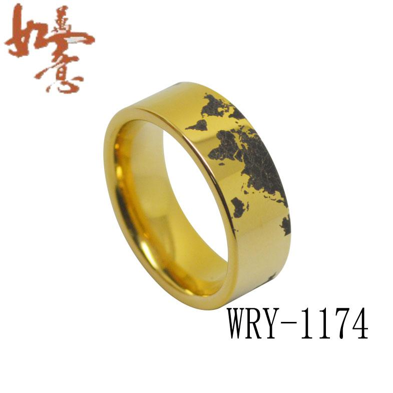 Elegant World Map Tungsten Carbide Ring Menu0027s Ring WRY 1174 Wholesales Order Are  Welcome Tungsten Ring Wold Map Tungsten Ring Black Laser Tungsten Ring  Online With ...