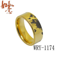 Wholesale Tungsten Carbide Ring Free Shipping - Free Shipping World Map Tungsten Carbide Ring Men's Ring WRY-1174 Wholesales Order are Welcome
