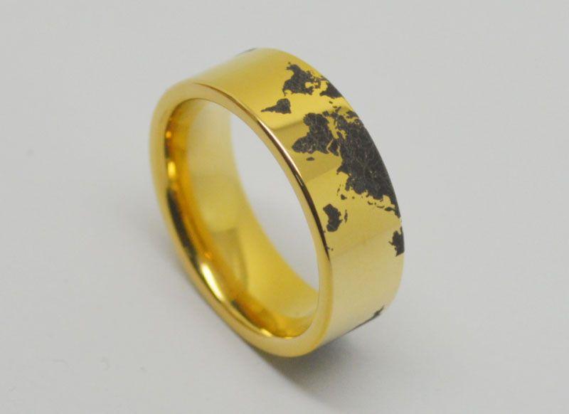 Der Ring WRY-1174 der freien Verschiffen-Weltkarte-Wolframkarbid-Ring-Männer Großhandelsauftrag ist willkommen