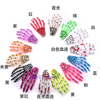 Wholesale Hairpin Bobby - Hot 100pcs(not pair) Hallowmas Gift Skeleton Claws Skull Hand Hair Clips Hairpin Zombie Punk Horror Hairwear Hairpin Bobby Pin Free Shipping