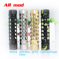 Wholesale Stainless Steel E Cigarette Battery - AR Mod Stainless Steel full Mechanical Mod nemesis kayfun Nimbus patriot hades chiyou atty cat mods 1:1 Clone e cigarettes for 18650 battery