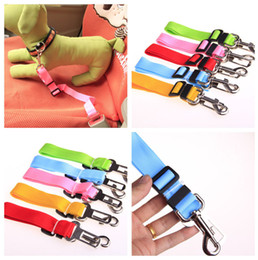 Wholesale Media Seating - 2014 new Adjustable Nylon Pet Dog Safety Car Seat Belt Harness Lead Clip dog Vehicle Travel leads rope