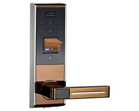 m500 touch screen fingerprint door lock with password keypad