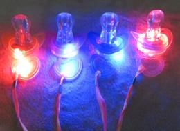 lampeggiante tasto di ricerca leggera Sconti EMS libero 200pcs 9 * 5cm Divertente Led Glow Pacifier Capezzolo Fischio Collana Led Light Up lampeggiante Bubble Rave Party lampeggiante Key Finder Regalo di Natale