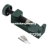 Wholesale Watch Link Pin Remover - Wholesale-Watch Band Link Pin Adjustable metal Remover 3 Pins Green407
