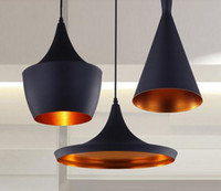 Wholesale Pendant Shades - 3pcs pack Black New ABC(Tall,Fat and Wide) Design by tom dixon copper shade musical pendant lamp Beat Light,110V 230V