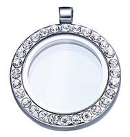 плавающий 25мм медальон памяти оптовых-25 мм плавающий медальон Живая память стекло CZ Кристалл проложили круглый круг кулон подвески ожерелье DIY аксессуары
