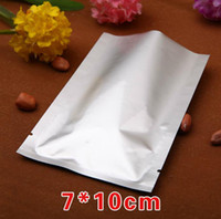 Wholesale vacuum bags free shipping - Free shipping 200pcs lot 7*10cm heat seal Pure Aluminum bags Vacuum bag Pill bags Capsule bags Packing bag for food tea coffee bag
