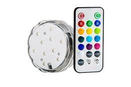 Precio de fábrica Luz LED sumergible controlada directamente a distancia para decoraciones con batería y luz sumergible controlada por control remoto desde fabricantes