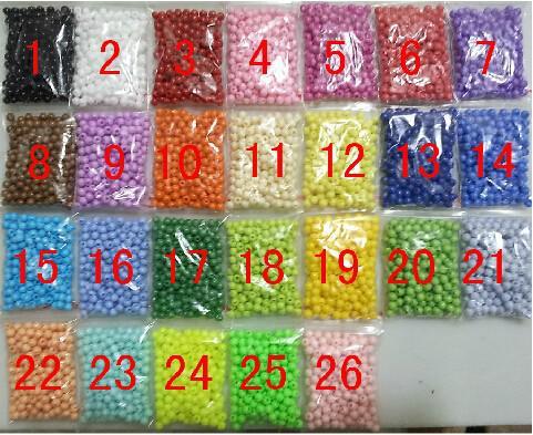 26 الألوان للاختيار أو الألوان المختلطة! بيع بالجملة 1000 قطع 4 ملليمتر حلويات الحلوى السلس فضفاض جولة الاكريليك الخرز النتائج ل diy مجوهرات صنع
