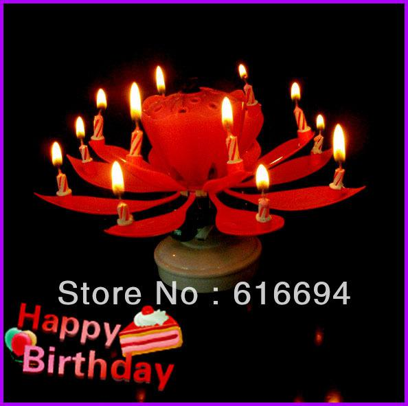 Super Magical Firework Birthday Rotating Music Candle Candle