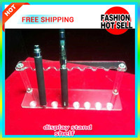 Hot Selling Acrílico Display Stand Prateleira Com 8 Suportes Straight Row 8 Kits E Cig Display Prateleira Adequado Para 16mm Diameter E Cigarette