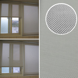 Wholesale roller shades windows - Modern Curtain 70%PVC 30% Polyester Translucent Grey Sun Screen Roller Blinds Customized Window Curtains for Kitchen Balcony