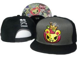 Wholesale Snap Backs For Girls - Tokidoki Caps New Style TKDK Adjustable Hats Snap Back Hats Cheap Hip Hop Caps Fashion Snapback Hats for Girls and Boys Top Hats for Sale