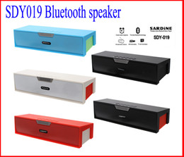 Wholesale Usb Wireless Amplifier - SDY-019 Original Nizhi HIFI Bluetooth Speaker with screen SDY019 Sardine FM Radio wireless USb Amplifier Stereo Sound Box