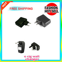 Wholesale Travel Battery Charger For Cheap - Cheap price travel home E Cigarette US EU UK Plug Wall Charger adapter for eGo ecig Vaporizer ecig Pen eGo Battery USB AC Power Adapter