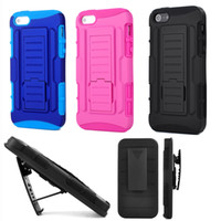 Wholesale Iphone5 Case Armor - For iphone 5 5S Future Armor Impact Hybrid Hard Case Cover + Belt Clip Holster Kickstand Combo Stand For iphone5