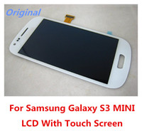 Wholesale Digitizer Galaxy S3 Mini - High Quality Original LCD Display With Touch Screen Digitizer + frame Assembly For Samsung Galaxy S3 MINI i8910 I8192 I8195 Free Shipping