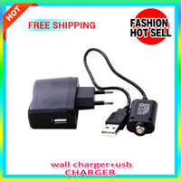 Wholesale Ego T Kits Sale - High quality 5 pcs sale US  UK  EU Charger Wall Charger & USB Charger for Electronic Cigarette E-cigarette E-cig Ego t Ego Adapter Kits
