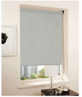 Wholesale Cheap Curtains Living Room - Customized Cheap Blackout Curtain 100% polyester yarn in grey roller blinds window curtain
