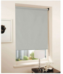 Wholesale Cheap Doors Windows - Customized Cheap Blackout Curtain 100% polyester yarn in grey roller blinds window curtain