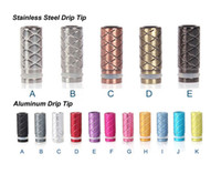Wholesale Aluminum Tips - 2014 Newest Design Aluminum Drip Tips Stainless Steel Drip Tips Clearomizer Mouthpieces for CE4 CE5 Vivi Nova DCT EGO 510 E Cig Atomizer
