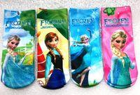 Wholesale Thin Cotton Socks For Kids - Frozen socks frozen anna and elsa princess cotton socks frozen princess socks ankle socks for kids invisible socks girl Thin Ankle Socks