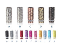 Wholesale Ce5 Stainless - Fashion Style Aluminum Drip Tips Stainless Steel Drip Tips Clearomizer Mouthpieces for CE4 CE5 Vivi Nova DCT EGO 510 E Cig Tanks Atomizer
