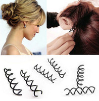 Wholesale Cheap Twist Hair - New Metal Spiral Spin Screw Pin Hair Clip Twist Barrette women jewelry cheap Free Shipping [JH02055*3]