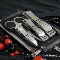 nagelknipser ledertasche großhandel-Großhandel-9 in 1 Nagelpflege Set Kit Nagelknipser mit PU Ledertasche für Männer Dame Girl FREE SHIPPING407