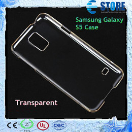 Wholesale Galaxy S Clear Case - Samsung Galaxy S5 Case Clear Crystal Transparent Ultra Slim Plastic Hard Back Case Cover For Samsung Galaxy S5 S 5 i9600,M