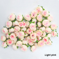Wholesale Artificial Wedding Flowers Sale - 100 Pcs Lot Artificial Flowers Light Pink Colors Roses Silk Flower Head Arrangement Wedding Party Decorative Hot Sale