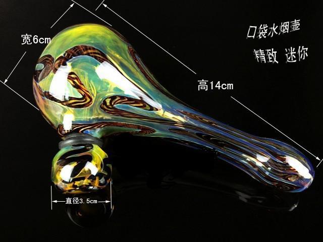 제조 업체 도매 RT-120 유리 금연 파이프 버블 러, 미니 물 파이프 손 파이프 컬러 유리 숟가락 파이프