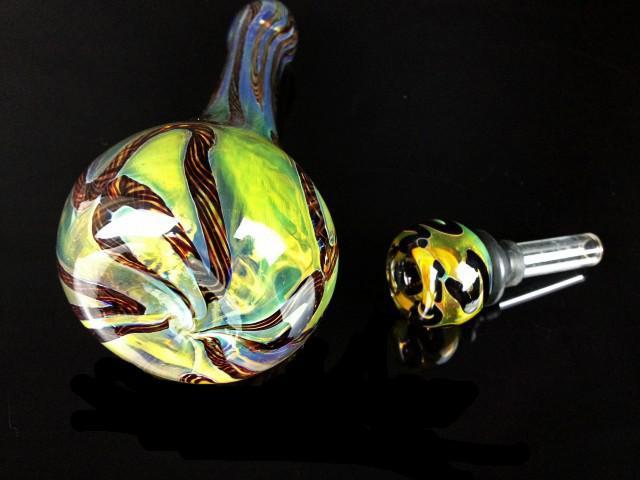 Hersteller Großhandel RT-120 Glaspfeife Bubbler, Mini Wasserrohr Hand Rohre Farbe Glas Löffel Rohr