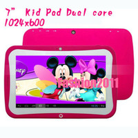 Wholesale Green 7inch Tablets - 7Inch Dual Core BENEVE R70DC Children Kids Education Tablet PC RK3028 Android 4.2 Bluetooth 1GB RAM 8GB ROM Wifi Colorful DHL 002134