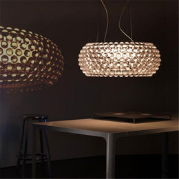 Wholesale Led Amber Lighting - New Chandeliers Foscarini Caboche Pendant Lamp Patricia Urquiola ,Eliana Gerotto Designed Clear Transparent Amber Acrylic Ball Pendent Light