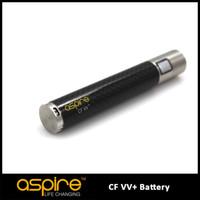 Wholesale E Cigarette Rechargeable Variable Voltage - Wholesale Button Battery Rechargeable Voltage Variable battery for E Cigarette,100% Authentic Aspire CF VV+ Electronic Cigarette VV Battery