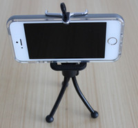 Wholesale Spider Mobile - Mini Spider Flexible Mounts Cradle Grip Tripod Holder Stand Mount + Phone Clip Bracket Holder for iPhone Samsung HTC Mobile Phone -BLACK
