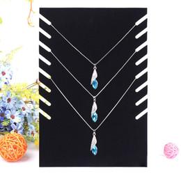 $enCountryForm.capitalKeyWord Canada - Black Velvet Square Board Necklace Holder Rack Shelf Foldable Pendant Jade Jewelry Display Stand