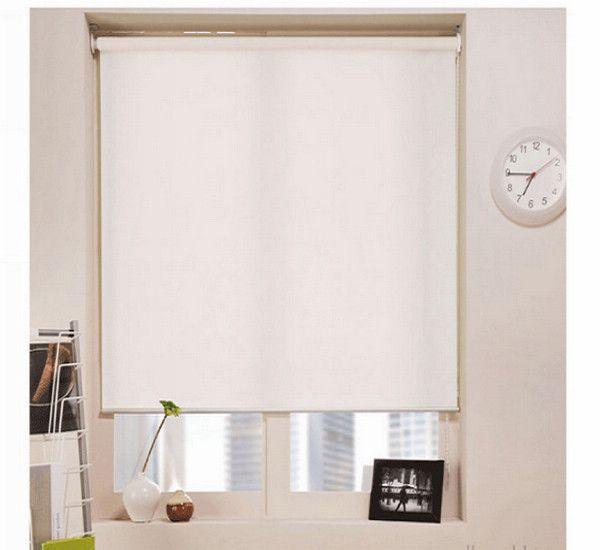 top popular Blackout Roller Blinds in Milk White Popular Modern Curtains for Living Room 7 Colors 2020