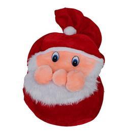 Wholesale Santa Claus Backpack - Chrismas Gift Bag X-mas Backpack Cartoon Santa Claus Super Soft Sack Christmas Candy Bag drawstring 50cm