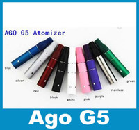 Wholesale Ago G5 Dry - Dry Herb Vaporizer Atomizer Ago G5 Tank Clearomizer Herbal Smoke Vapor 510 Thread for Ago Atomizer for Cut tobcco Liquid atb001