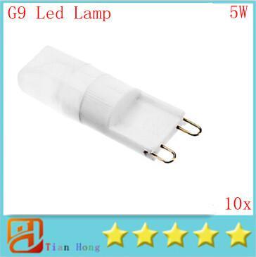 10pcs/lot Dimmable MOQ Mini G9 110V-220V 5W LED Ceramic Crystal Lamp Corn Bulb Chandelier COB Spot Light Cool/Warm White 360 degree