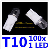T10 1 LED HID Wedge Light Bulbos de lámpara Domo Matrícula para W5W 168 194 Convex Side Free Shipping