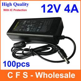 Monitor de energia ic on-line-100 pcs Com IC Chip AC 100-240 V Para DC Power Adapter 12 V 4A Interruptor de Alimentação Para Monitor LCD de Luz LED CCTV Frete grátis