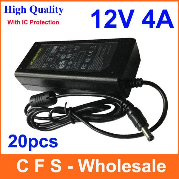 5ba4865ed0a1f With IC Chip AC DC Power Supply 12V 4A Adapter 12V 48W Charger For LED  Light LCD Monitor 20pcs Lots Free shipping