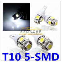 Wholesale 12v 921 Light Bulb - 30 X 5SMD HID White LED 5050 Bulbs T10 168 194 2825 W5W 921 12V Wedge For License Plate Lights New Free Shipping