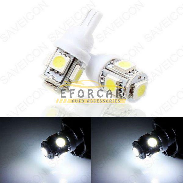 30 x 5SMD HID WHITE LED 5050 Lampor T10 168 194 2825 W5W 921 12V Wedge för licensplattan Ljus Ny gratis frakt